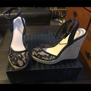 Victoria's Secret Laced ankle wedge size 7.5